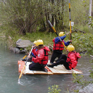 rafting team building