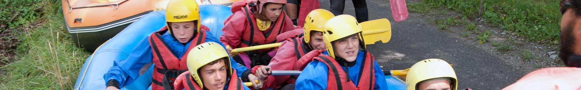 rafting briefing bambini