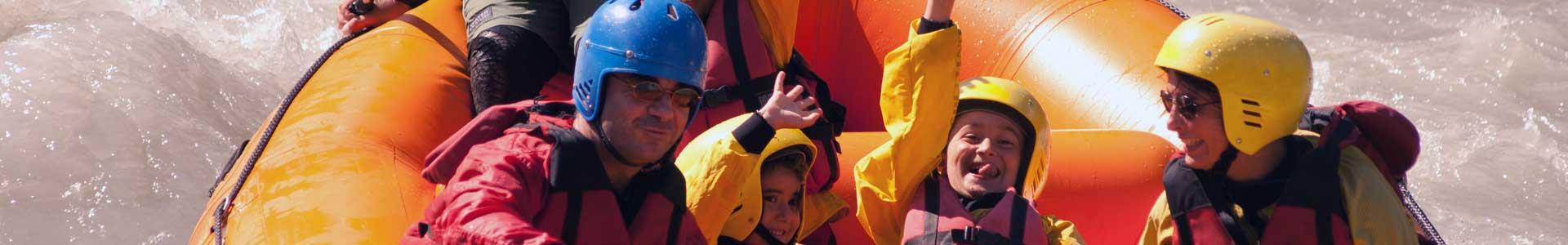 discesa rafting family